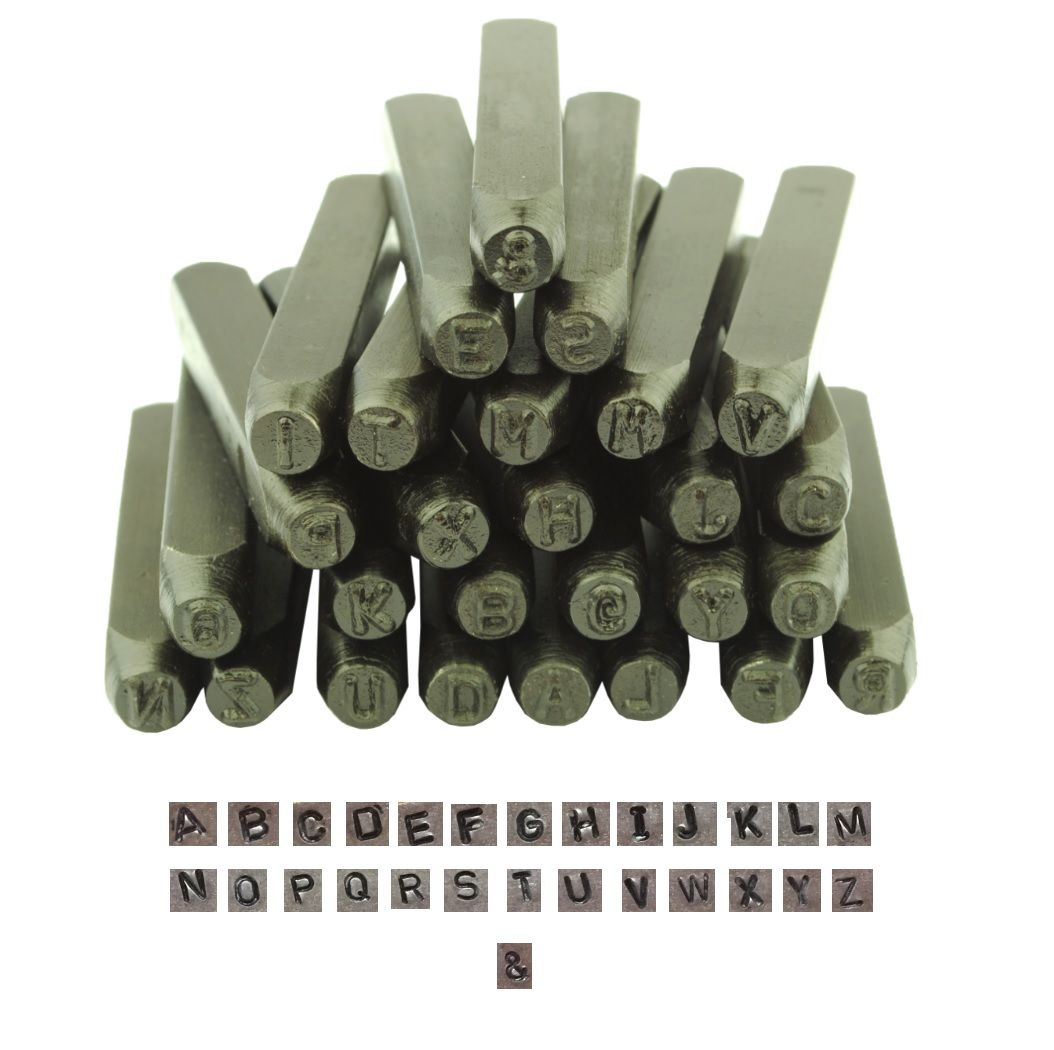 Metalwork Letter Stamp Set UPPERCASE CAPITAL 27 Piece 10mm 3 8 M9021