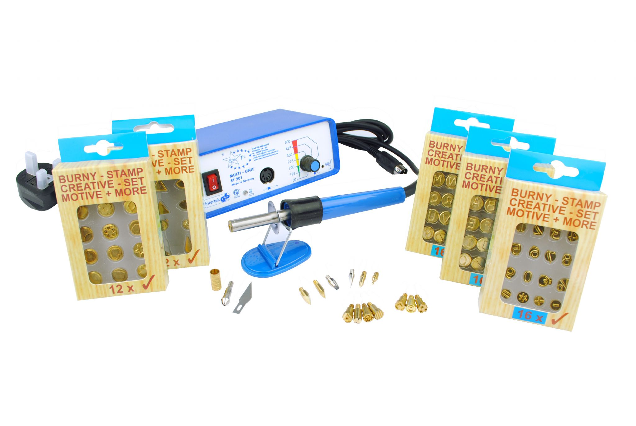 Startec Multi Heat Pyrography Kit With 14 Tips Amp 5x